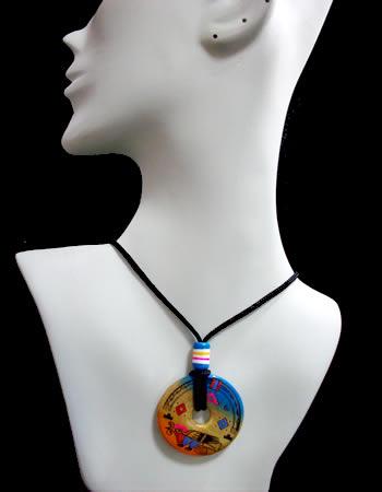 Ceramic pendants mochikashop wholesale export peruvian lot 50 pendants necklaces handmade ceramic hand painted audiocablefo