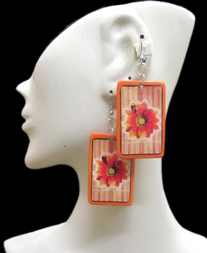 Resined Images Peruvian Rubber Earrings