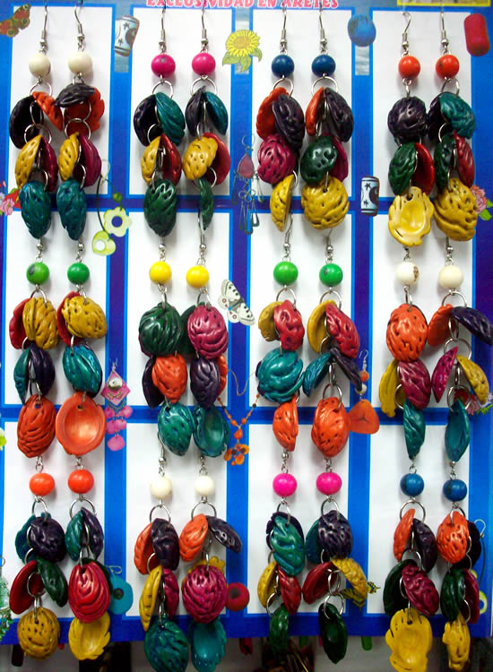 Colorful Bunch Peach Seeds Earrings