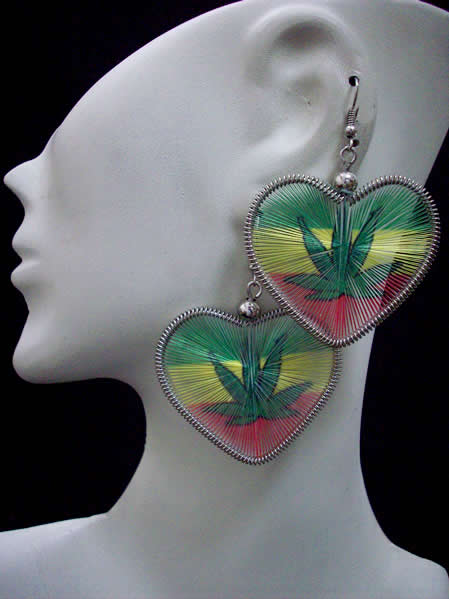 Lot 50 Peruvian Teardrop Thread Earrings Heart Design