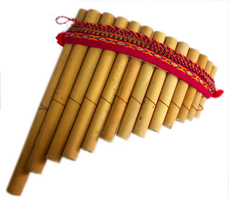 Peruvian Inca Curved Antara Pan Flute 13 Pipes  Andean Sound