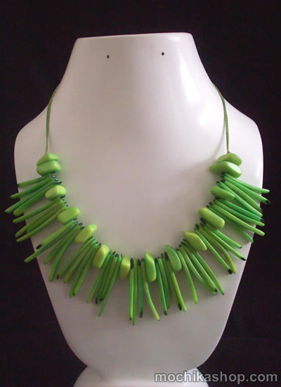 Tribal Design Peruvian Tagua Sticks Necklaces