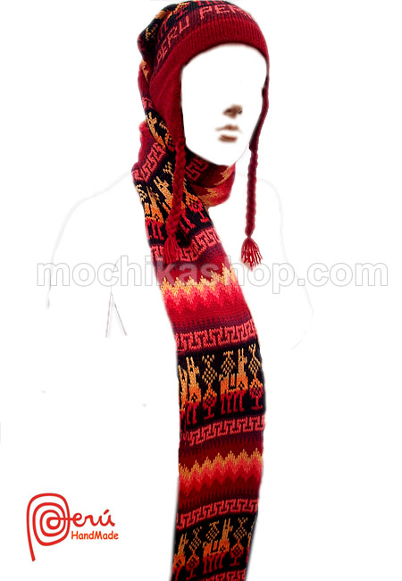 06 Nice Peruvian Inca Chullos Scarves Multicolor One Piece
