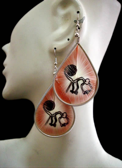 Nazca Images Teardrop Peruvian Thread Earrings