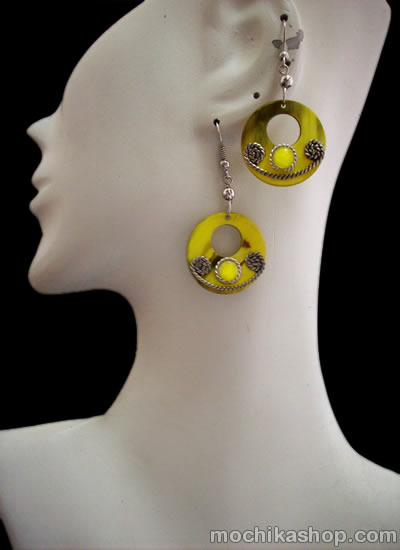 Small Size Peruvian Bull Horn Earrings