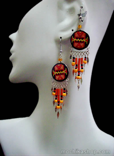 12 Peru Wholesale Assorted Ceramic Earrings Mixed Inca Images