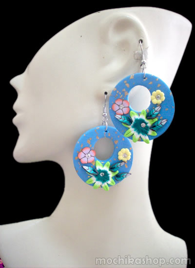 Mixed Donuts Peruvian Rubber Earrings