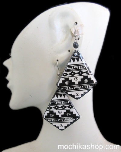 Inca Images Coconut Earrings