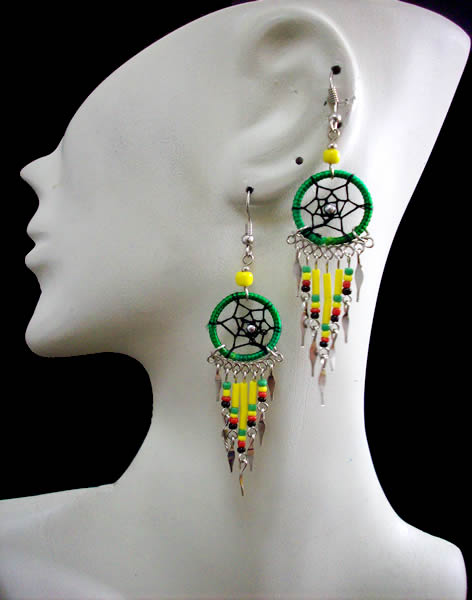 50 Peru Wholesale Small Canutillo Dreamcatcher Thread Earrings
