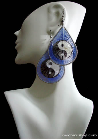 Mixed Images Teardrop Peruvian Thread Earrings