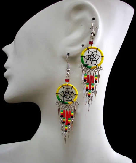 Small Dreamcatcher Peruvian Thread Earrings