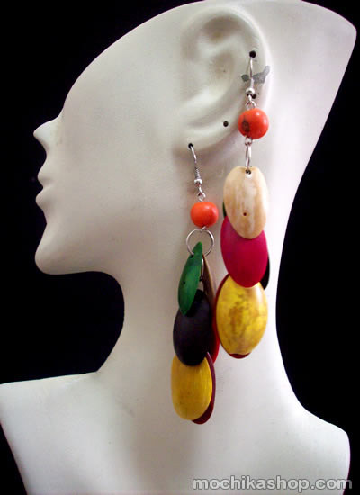 Colorful Bunch Palmito Earrings