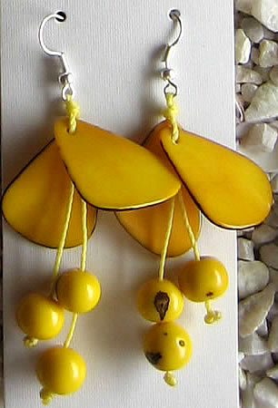 Chips and Acai Peruvian Tagua Earrings