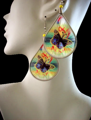 12 Peru Wholesale Teardrop Thread Earrings Butterfly Images