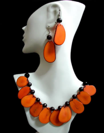 Flat Seeds Tagua Sets Necklaces