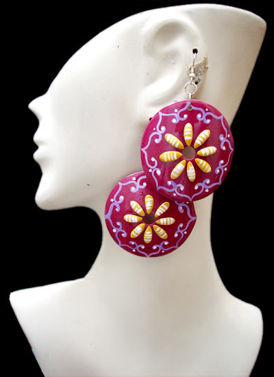 Assorted Images Peruvian Totumo Earrings