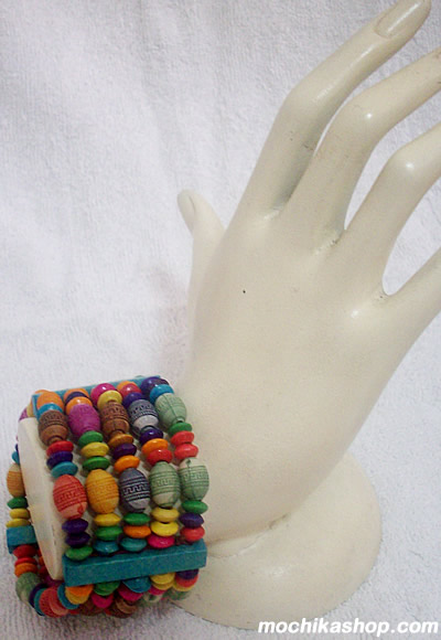 Lot 24 Peru Wholesale Wood Stretch Bracelets Handmade