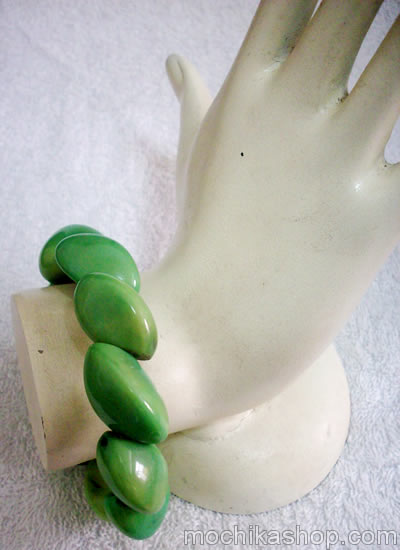 06 Peruvian Nice Twisted Tagua Bracelets Colorful