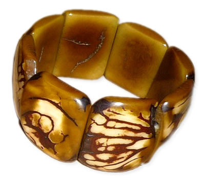 Lot 24 Peruvian Wholesale Tagua Bracelets Tribal Crust Design