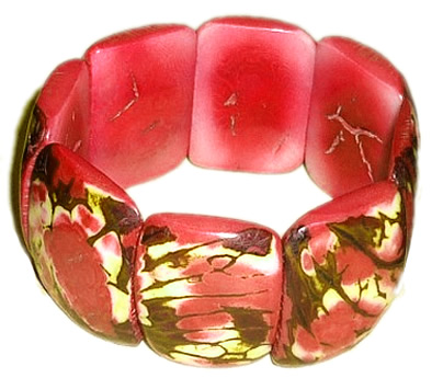 12 Peruvian Wholesale Tagua Bracelets Tribal Crust Design