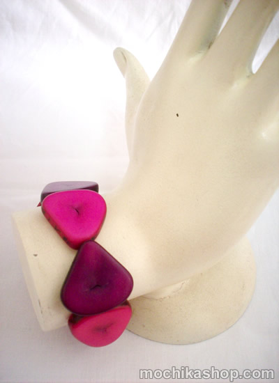 Lot 24 Peruvian Nice Colorful Tagua Bracelets Heart Design
