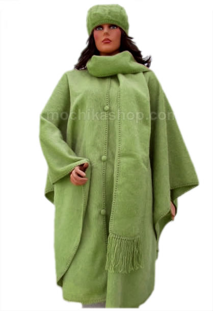 Pretty Peru Cloak Handmade Alpaca Camargo Wool Butterfly Design
