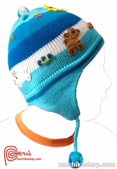 30 Nice Wholesale Peruvian Children's Arpillados Chullos Hats