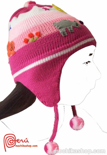 20 Bautiful Wholesale Peruvian Children's Arpillera Chullos Hats