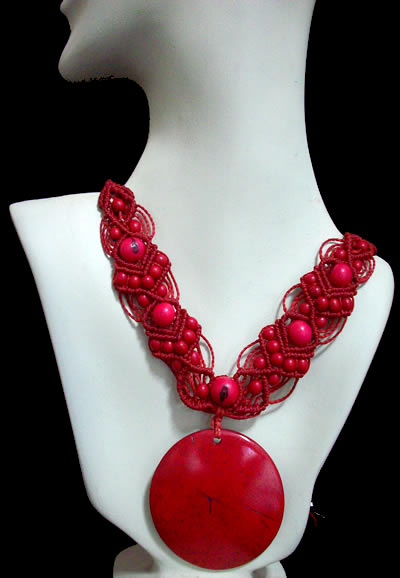 06 Beautiful Necklaces Handmade Coconut Seeds and Achira Beads