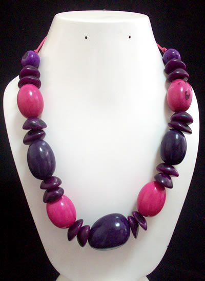 12 Wholesale Necklaces Handmade Aguaje Seed Beads And Tagua Nut
