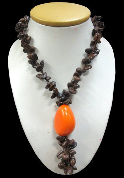 12 Wholesale Peruvian Coffee Necklaces Handmade with Tagua