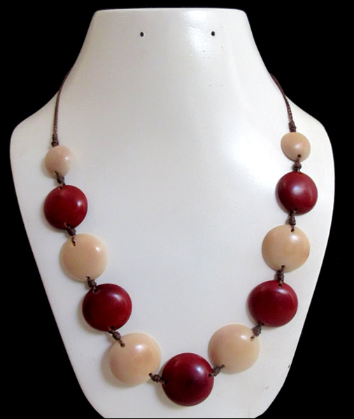 Buttons Design Peruvian Tagua Nut Necklaces