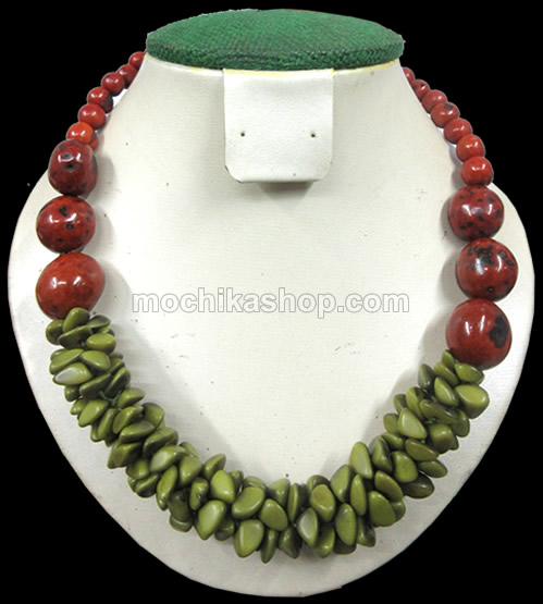 12 Pretty Peruvian Necklaces Handcrafted Bombona Seeds and Tagua  Beads Cascajo