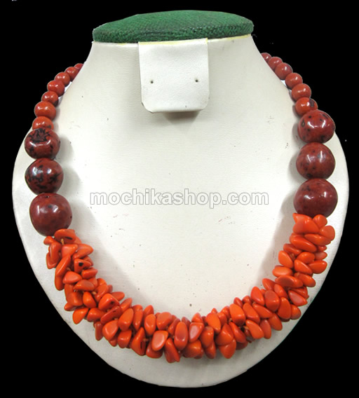 06 Wholesale Necklaces handmade Bombona Seeds and Tagua  Beads Cascajo