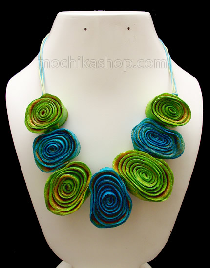 08 Amazing Orange Peel Necklaces Chain Roses Model Mixed Colors
