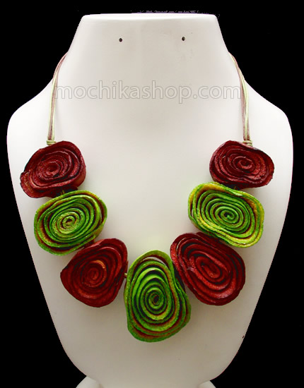 12 Pretty Orange Peel Necklaces Chain Roses Model Mixed Colors