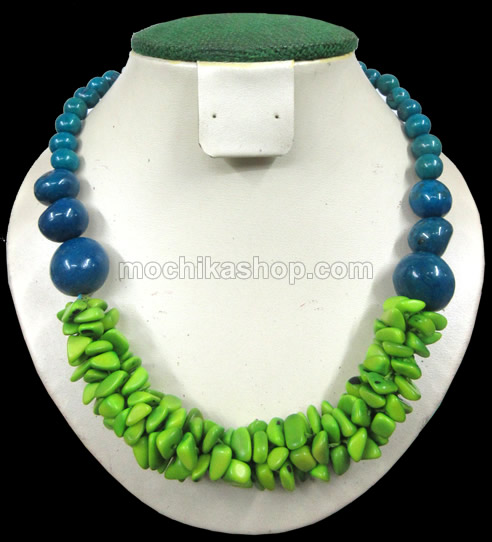 24 Handmade Necklaces Handmade of Tagua Beads Cascajo and Bombona Seeds