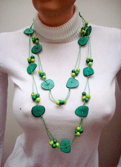 12 Large Necklaces Handmade Tagua Nut Heart Acai Seed