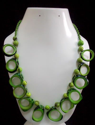 Donut Beads Choker Design Peruvian Tagua Necklaces