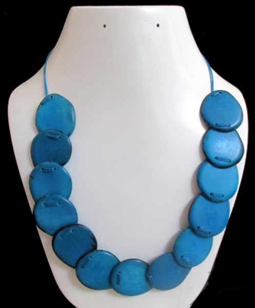 Flat Seeds Whole Color Peruvian Tagua Necklaces