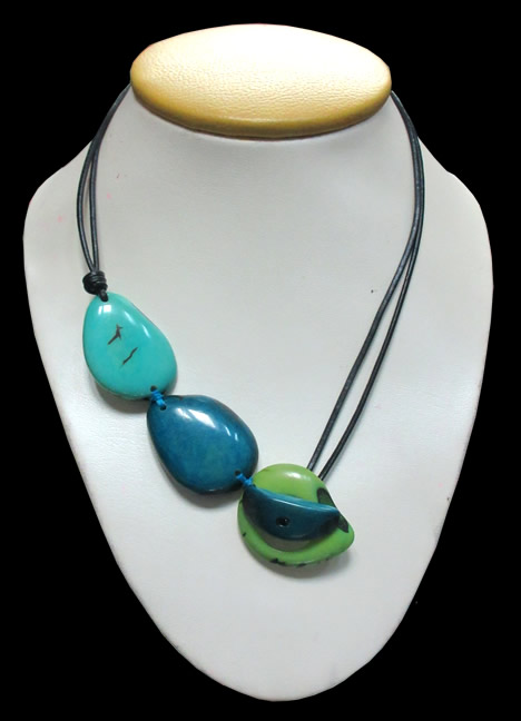 Tribal Tagua Flat Seeds Peruvian Necklaces