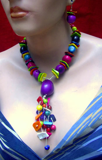 Wholesale Handmade Tagua Sets Necklaces and Bombona Seed Beads