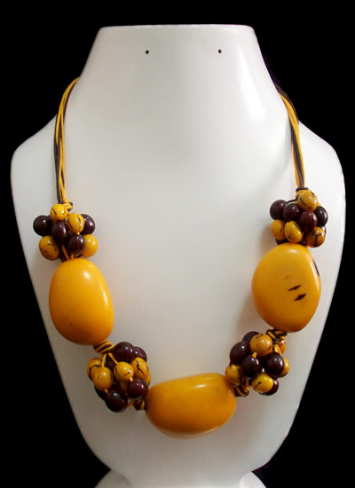 12 Wholesale Necklaces Handmade Tagua Seed Beads Acai Seeds