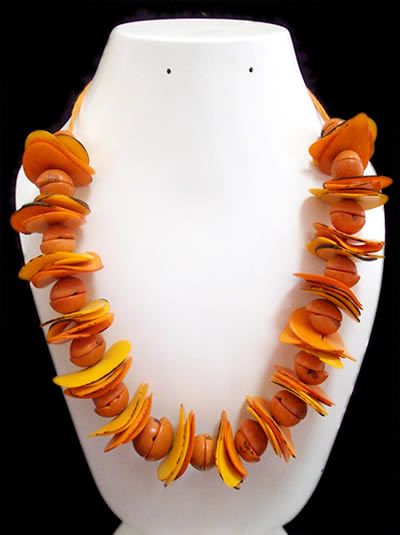 Chips Beads Peruvian Tagua Necklaces