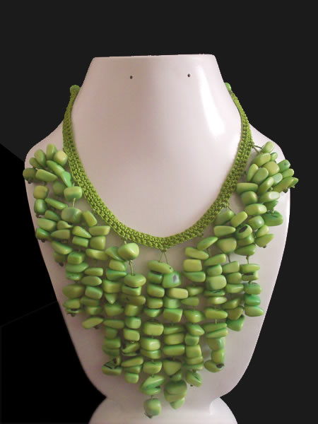 12 Woven Inca Necklaces Handmade Tagua Gravel Cascajo Seed Beads