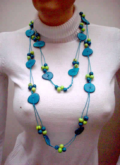 Tagua Nut Heart Large Peruvian Necklaces