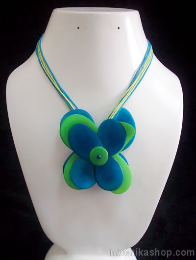 Flower Design Peruvian Tagua Nut Necklaces