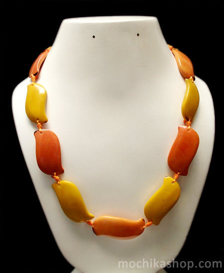 Flat Seeds Assorted Peruvian Tagua Necklaces