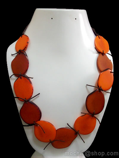 Flat Seeds Choker Design Peruvian Tagua Necklaces