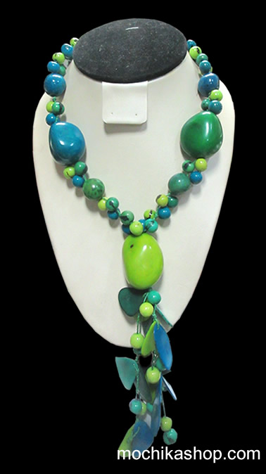 06 Wholesale Peruvian Classic Necklaces Handmade Tagua Beads and Acai Seeds
